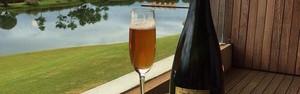 Da champagne para a cerveja (Cerveja tem todo estilo de uma champagne, da garrafa à rolha)