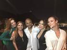 Claudia Raia antecipa aniversário em festa com amigos famosos