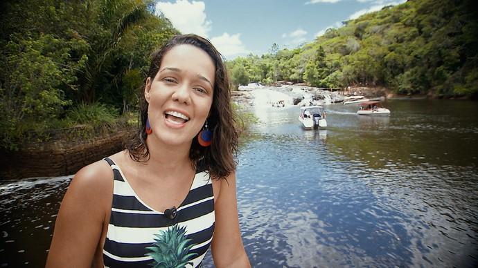 No 'Pé na Pista', Renatinha vai até a Cachoeira do Tremembé (Foto: TV Bahia)