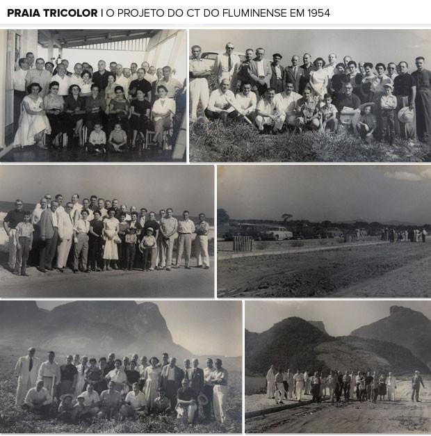 Mosaico - CT Fluminense 1954 (Foto: Acervo/Flu-Memória)