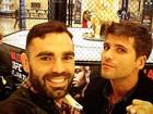 Bruno Gagliasso vai a Las Vegas para assistir à luta de Anderson Silva