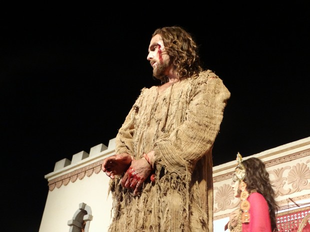 Igor Rickli interpreta Jesus Cristo, assim como na temporada 2015 (Foto: Kamylla Lima/G1)