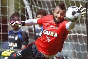 Alex Muralha,  treino, Ninho, Flamengo (Foto: Gilvan de Souza/Fla Imagem)