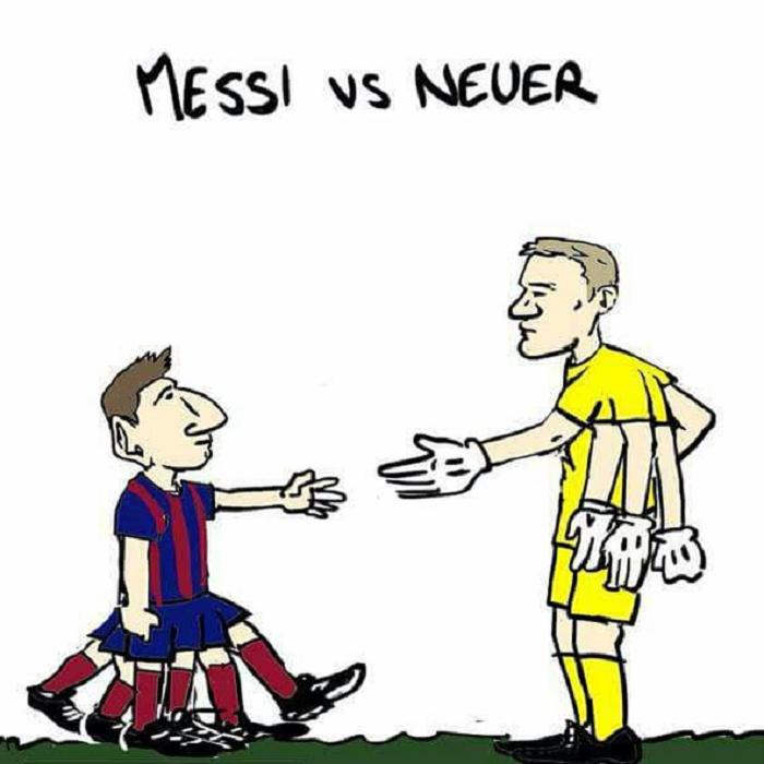Zoações - Barcelona x Bayern de Munique