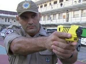 Guardas municipais podem ser impedidos de usar armas de fogo (Foto: Reprodução/TV Globo)