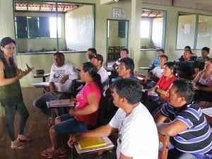 Seminário conta com a participação da turma de acadêmicos do povo Wai Wai (Foto: Ascom Uepa/Divulgação)