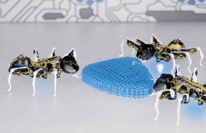 BionicANT promete transformar o trabalho em fábricas no futuro (Foto: Divulgação/Festo)