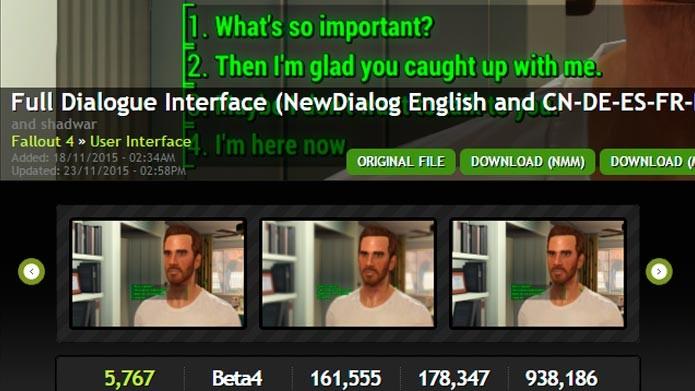 Clique na opção Download (NMN) para baixar diretamente pelo programa (Foto: Reprodução/Tais Carvalho)