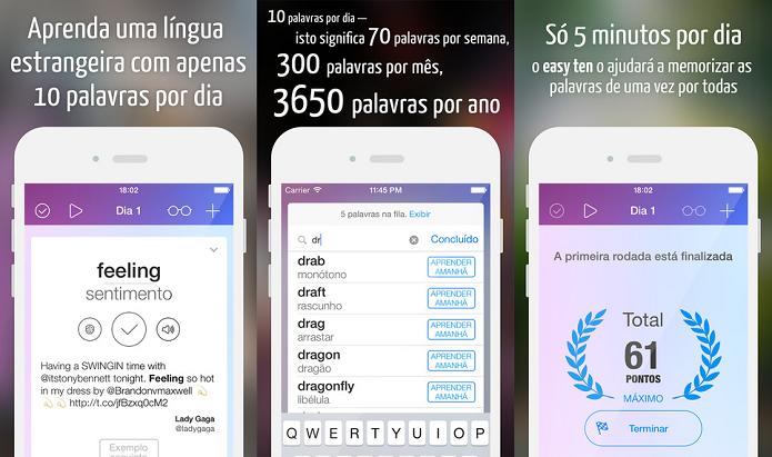 Aprenda dez palavras e expressões estrangeiras com o Easy Ten (Foto: Divulgação/AppStore)