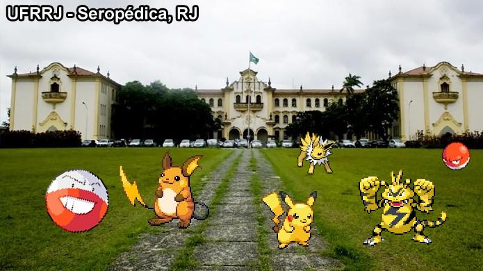 Campus de Universidades são ótimos locais para capturar pokémons Elétricos em Pokémon Go (Foto: Reprodução/Rafael Monteiro)