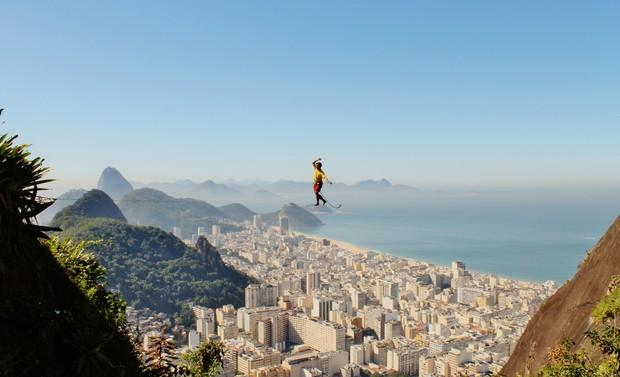 Gideão Melo highline (Foto: arquivo pessoal)