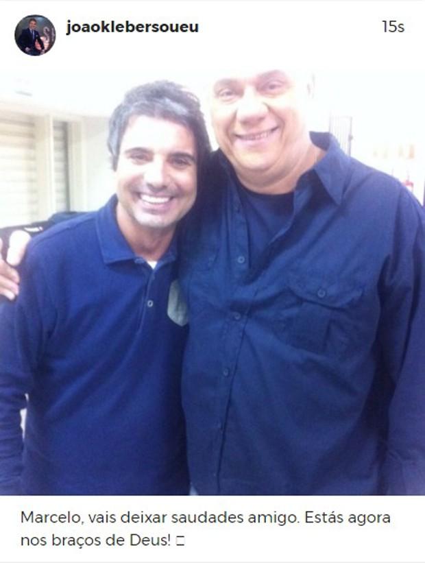 João Kléber lamenta morte de Marcelo Rezende (Foto: Reprodução/Instagram)