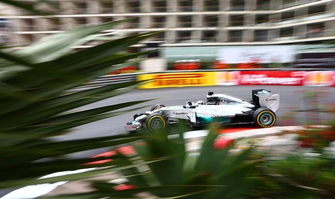 Lewis Hamilton, treino GP de Mônaco (Foto: Getty)