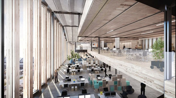 Nova sede do Google em Londres terá parque na cobertura (Foto: divulgação)
