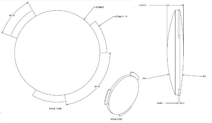 Especificações das lentes do Google Cardboard (Foto: Divulgação/Google)