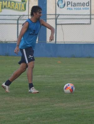 Atacante Leandro Kível, Confiança (Foto: Osmar Rios)