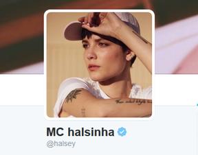 Halsey (Foto: Reprodução/Twitter)