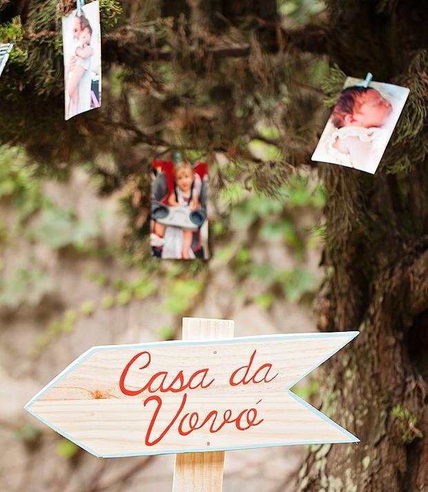 Plaquinha Casa da Vovó (Foto: Elisa Correa/Editora Globo)