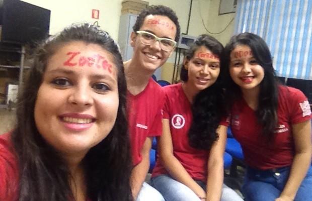 Lara, Gerson, Juliana e Elen: dedicação e bons resultados, em Goiás (Foto: Fernanda Borges/G1)