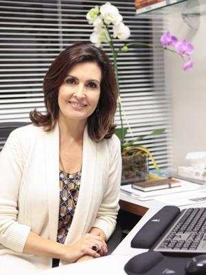 Ansiosa com a estreia, Fátima Bernardes tem sonhado com o programa (Foto: Encontro com Fátima Bernardes/ TV Globo)