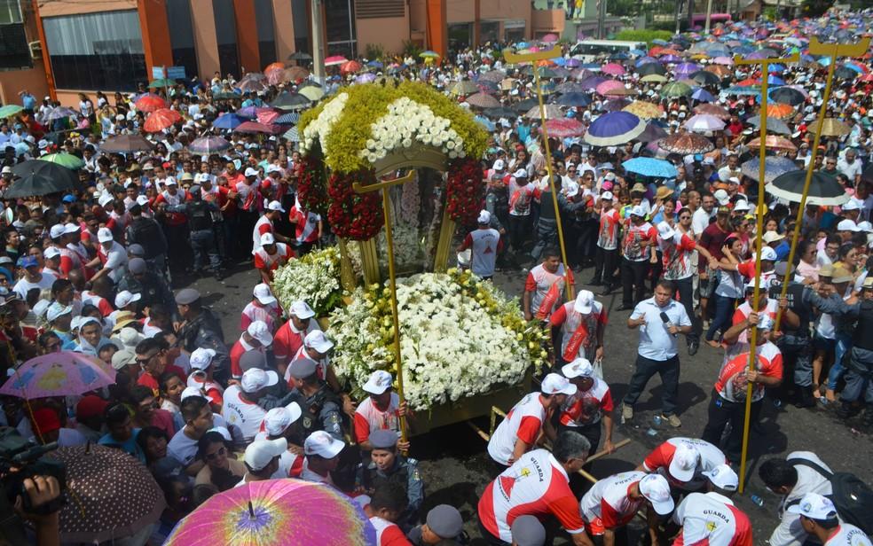 Produções serão premiadas em concurso sobre religiosidade e cultura no Círio de Nazaré (Foto: Jorge Abreu/G1)