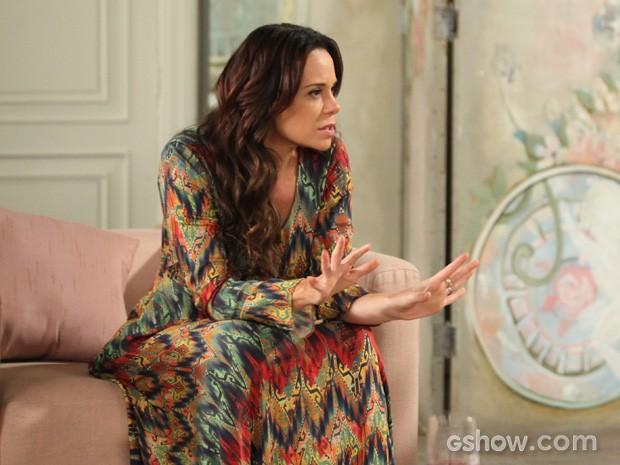 Juliana conta da traição de Nando (Foto: Camila Camacho/TV Globo)
