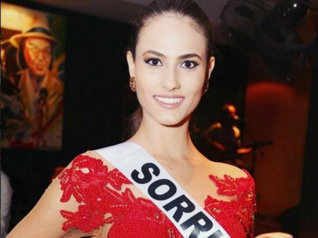Miss Sorriso Taiany Zimpel, 18 anos, mede 1,80m de altura e pesa 61 kg (Foto: Divulgação)