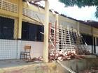 Parte de teto desaba e fere seis crianças em escola de Mossoró, RN