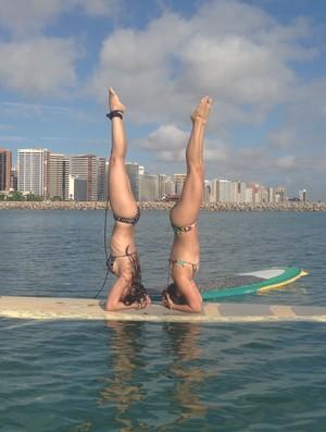 'Stand Up Paddle' com SUP Yoga em Fortaleza (Foto: Divulgação/ @supyogabrazil)