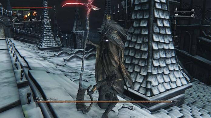 Chefe Martyr Logarius e outros ficam extremamente mais fáceis devido ao bug (Foto: Reprodução/GameSpot)
