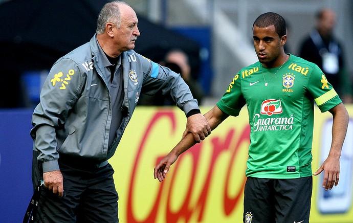 Felipão lucas brasil treino (Foto: Mowa Press)