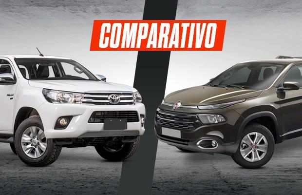 Comparativo: Fiat Toro x Toyota Hilux (Foto: Autoesporte)
