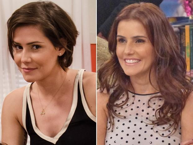 Após 'Louco', atriz deixou os cabelos curtos para trás. No Esquenta, exibiu o novo look (Foto: Divulgação / Rede Globo)