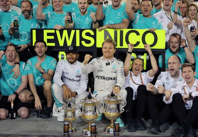 Lewis Hamilton, Nico Rosberg, Lewis Hamilton, GP do Bahrein, Fórmula 1 (Foto: AP)