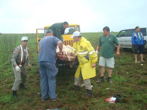 Jipeiros ajudaram no resgate após acidente em Passo Fundo, RS (Foto: Bernardo Boff/Divulgação/Pampa Jipe Clube)