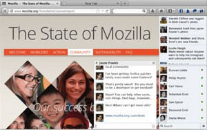 Barra Social do Faceboook no navegador Firefox 17 (Foto: Divulgação)