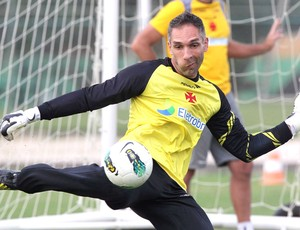 Fernando Prass, treino do Vasco (Foto: Cezar Loureiro / Agência O Globo)