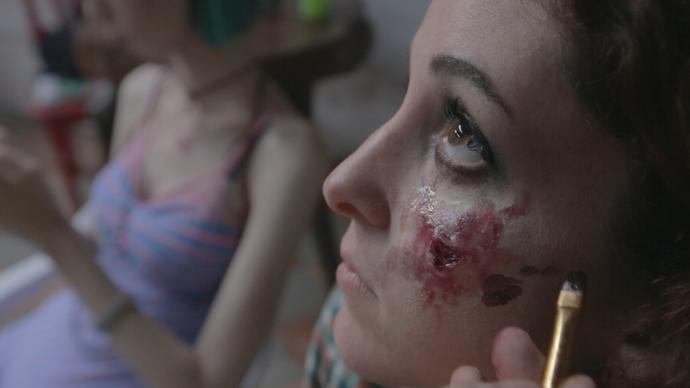 Bastidores do novo filme de terror de Renato Aragão (Foto: Divulgação/ TV Gazeta ES)