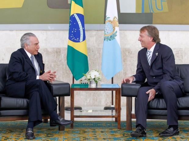Temer recebe credenciais de embaixadores no Planalto (Foto: Beto Barata/Presidência da República)