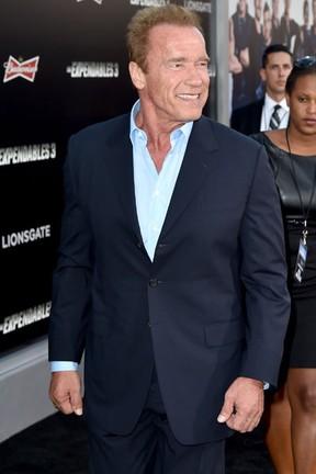 Arnold Schwarzenegger em première em Los Angeles, nos Estados Unidos (Foto: Kevin Winter/ Getty Images/ AFP)