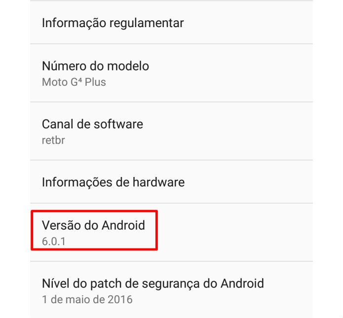 Jogo secreto pode ser acessado pelas configurações do Android (Foto: Reprodução/Felipe Demartini)