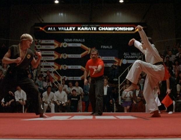 Johnny (William Zabka) e Daniel San (Ralph Macchio) em Karatê Kid (Foto: reprodução )