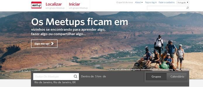 Encontre amigos locais com Meetup