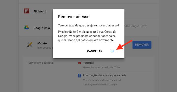 Removendo um aplicativo de uma conta do Google (Foto: Reprodução/Marvin Costa)
