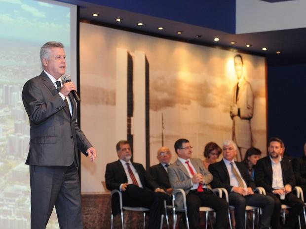 Governador Rodrigo Rollemberg durante coletiva no Memorial JK (Foto: Dênio Simões/Agência Brasília)