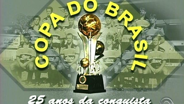 Título da Copa do Brasil pelo Criciúma completa 25 anos nesta quinta  (Foto: RBS TV/Reprodução)