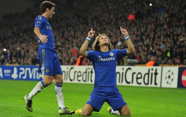 Oscar David Luiz Chelsea Nordsjaelland (Foto: Getty Images)