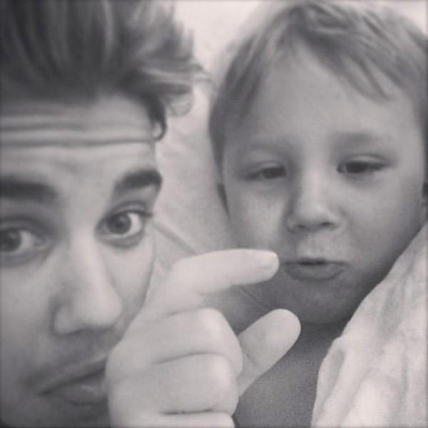 Justin e Jaxon Bieber (Foto: Instagram)