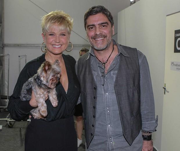 Xuxa e Junno (Foto: Raphael Castello/AgNews)