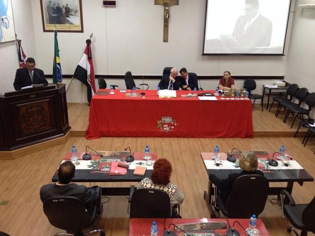Vereadores de Presidente Prudente julgam Adilson Silgueiro (PMDB) nesta quarta-feira (24) (Foto: Heloise Hamada/G1)